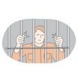 jail prison cell captivity arrest punishment vector image
