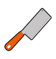 kitchen ax isolated icon vector image vector image