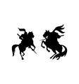 Knight Riding Silhouette vector image vector image