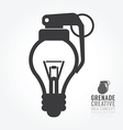 light bulb distortion from grenade concept vector image vector image