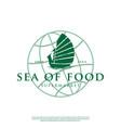 logo a ship with a globe vector image vector image