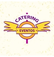 logo for catering restaurant eventos vector image vector image