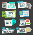 modern sale origami banners and labels collection vector image vector image