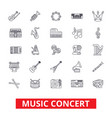 music concerts guitar piano dj party drums vector image
