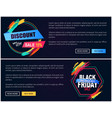 new offer black friday web on vector image vector image