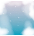 nightly background with cloudy and starry night vector image vector image