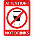 No drink sign Flat design vector image vector image