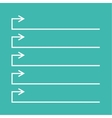 Notebook with to do list vector image