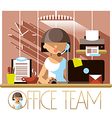 Office Team Support vector image vector image