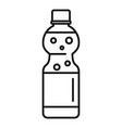 orange soda icon outline style vector image vector image