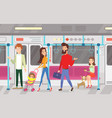 people in subway vector image vector image