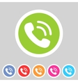 phone telephone flat icon vector image