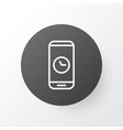 phone time icon symbol premium quality isolated vector image vector image