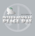 poster for the international peace da vector image vector image