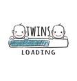 progress bar with inscription - twins loading vector image