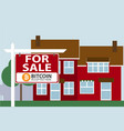 property for sale vector image vector image