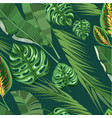 realistic exotic tropical floral pattern vector image vector image