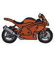 Red motorbike vector image vector image