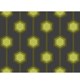 Retro Hexagons Green Seamless Tile vector image vector image