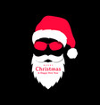 santa claus in red hat and sunglasses christmas vector image vector image