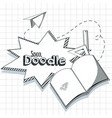 school supplies doodle vector image