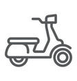 scooter line icon vehicle and transport vector image vector image