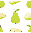 seamless pattern of pear vector image