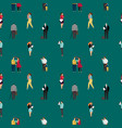 seamless pattern with people walking dating vector image vector image