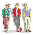 set of a fashionable casual vector image
