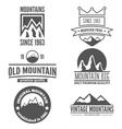 Set of vintage logo emblem label print or vector image