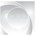 shiny silver white background vector image vector image