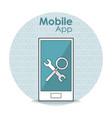 smartphone mobile application vector image