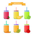 smoothie to go take away organic shake drink vector image vector image