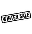 square grunge black winter sale stamp vector image vector image