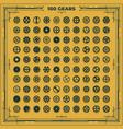 steampunk gears set victorian era vintage vector image vector image