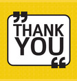 thank you lettering design vector image