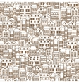 town concept background pattern seamless 3 vector image