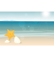 Travel and holiday landscape long banner with vector image vector image