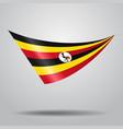 ugandan flag background vector image vector image