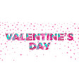 valentines day papercut text design for valentine vector image vector image