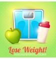 Weight poster diet vector image vector image