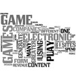 what is electronic game text word cloud concept vector image vector image