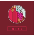 wine label in flat simple style vector image vector image