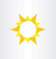 yellow sun sunshine icon background design vector image vector image