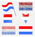 Set with Flags of Luxembourg vector image