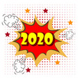 2020 new year and christmas omic speech bubble vector image