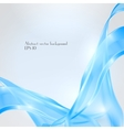 Abstract waving blue background vector image