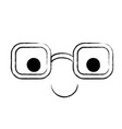 animated glasses with happy expression in black vector image vector image
