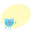 Baby diaper nappy character with human face vector image