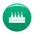 beer crate icon green vector image